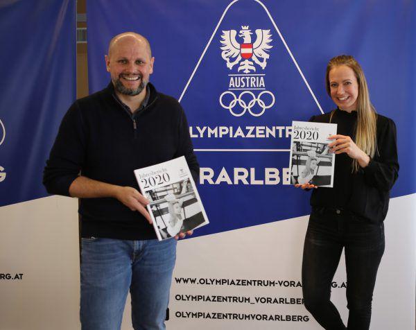 Sebastian Manhart (l.) und Natalie Scherer präsentierten den Jahresbericht 2020 des Olympiazentrums.paulitsch