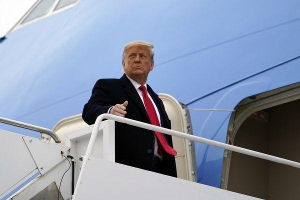 Trump wurde gestern vom Iran mit Sanktionen belegt. AP