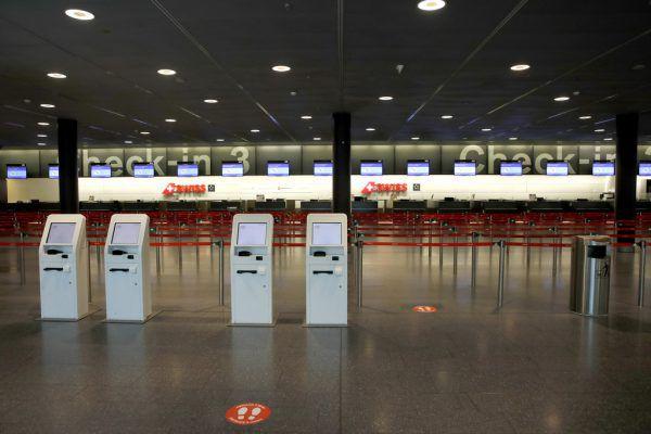 Wenig los war auf dem Zürcher Flughafen.reuters