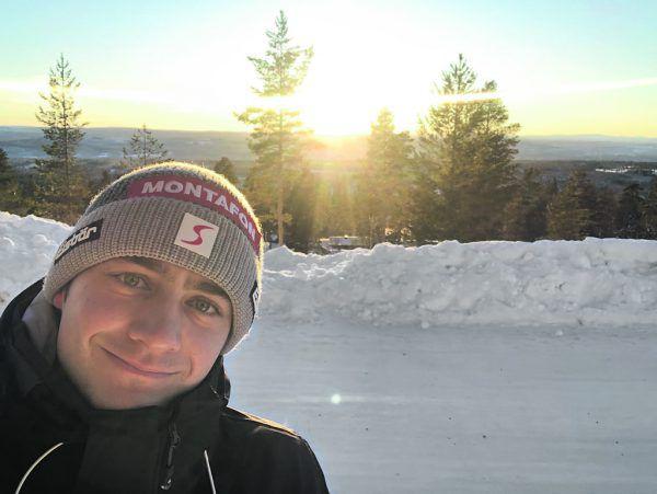 Alessandro Hämmerle mit einem Bildergruß aus dem tief winterlichen Schweden.Privat