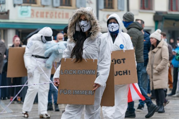 Anti-Corona-Demonstration in Dornbirn.   Stiplovsek