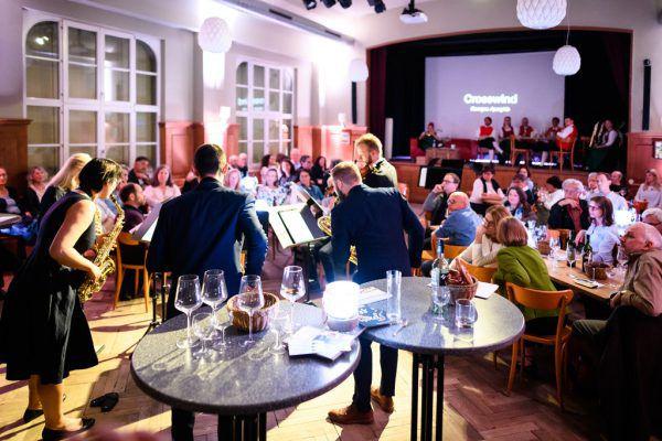 Das Siegerkonzert 2019 der Gruppe Crosswinds im Gasthof Löwen in Tisis. Matthias Rhomberg