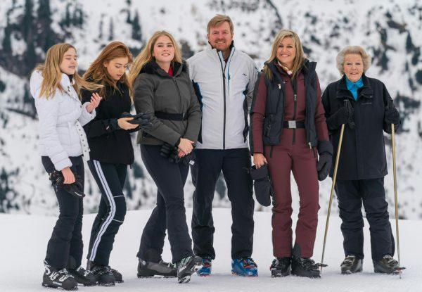 Die Königsfamilie im Februar 2020 in Lech.Stiplovsek