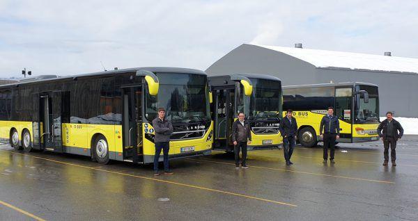 Die neuen Linienbusse sind da. Regio Bregenzerwald