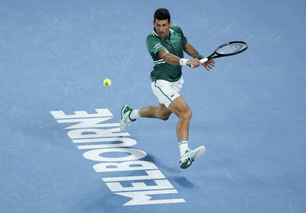 Djokovic setzte sich im Viertelfinale gegen den Deutschen Alexander Zverev durch.ap