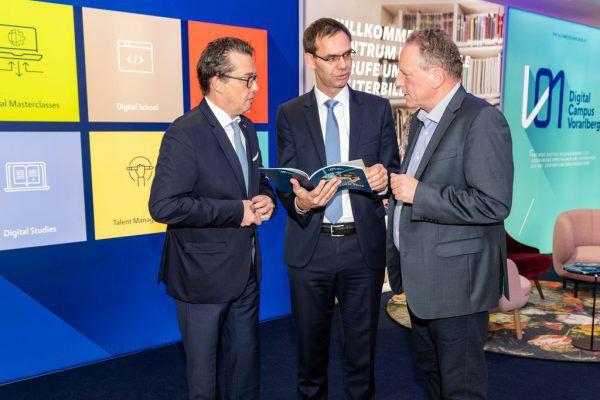 Ende 2018 war der Digitalcampus vom Landeshauptmann und den Kammerpräsidenten vorgestellt worden.AK/Gorbach