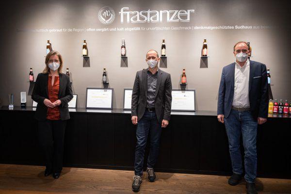 Gewessler und Rauch zu Besuch bei Kurt Michelini in Frastanz.Frastanzer