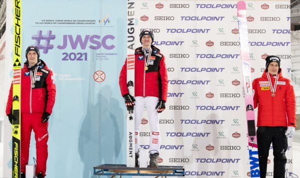 In Lahti feierte Bachlinger zunächst im Einzel, dann auch im Team den Junioren-Weltmeistertitel.JWSC/Korteniemi (5), privat
