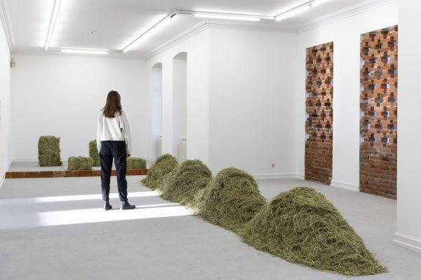 Kleine Bilder: Arbeiten von Pirmin Hagen (ganz oben) und Marlene Hausegger.Florian Raidt (3)