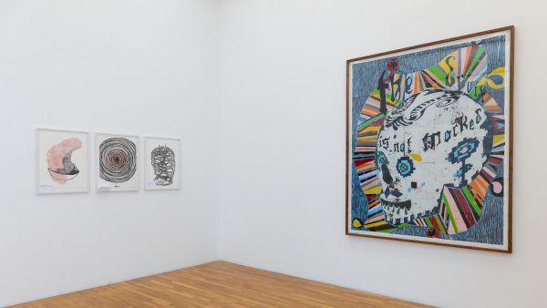 Künstler Manfred Egender ist seit 2020 Kurator der Galerie allerArt.Kleines Bild oben: die Serie von Hermann Nitsch.Lisa Kammann (1)/allerArt/Erhard Sprengel (2)