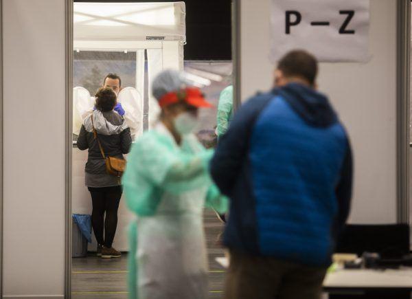 Seit vergangenem November befindet sich das Testzentrum im Messequartier. Paulitsch (2)
