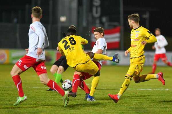 "Zuletzt gelang den ""Rothosen"" im Duell gegen den Kapfenberger SV ein 3:1-Heimerfolg.gepa/lerch"