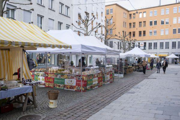 Ab Samstag zieht der Markt wieder um.Stadt Bregenz