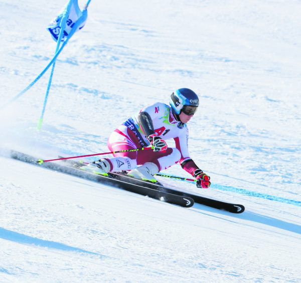 Bei perfekten Pistenbedingungen raste Lukas Feurstein im zweiten Durchgang zur Goldmedaille im Riesentorlauf.Kostadin Andonov, BFSki