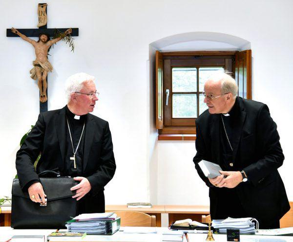 Bischof Franz Lackner (l.) und Kardinal Christoph Schönborn. apa