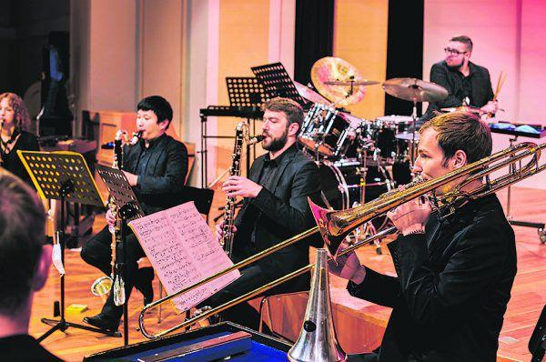 Bläser des Orchesters des Landeskonservatoriums.Marin