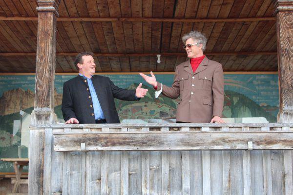 Bürgermeister Josef Anton Schmid (l.) mit Uwe Jäntsch. Schwarzenberg