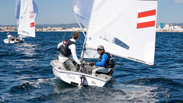David Bargehr und Lukas Mähr erwischten eine schwache Weltmeisterschaft.Candidate Sailing/Matesa
