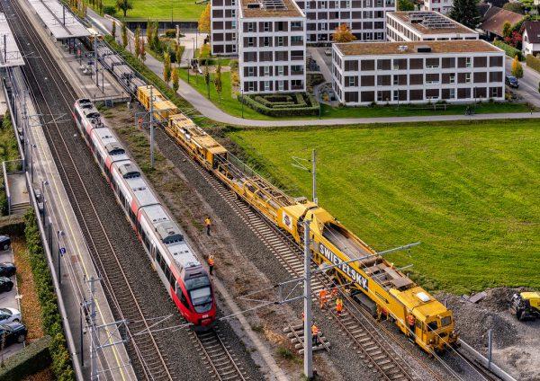 Die Bahnstrecke zwischen Hard und Lustenau wird zweigleisig ausgebaut.Hartinger