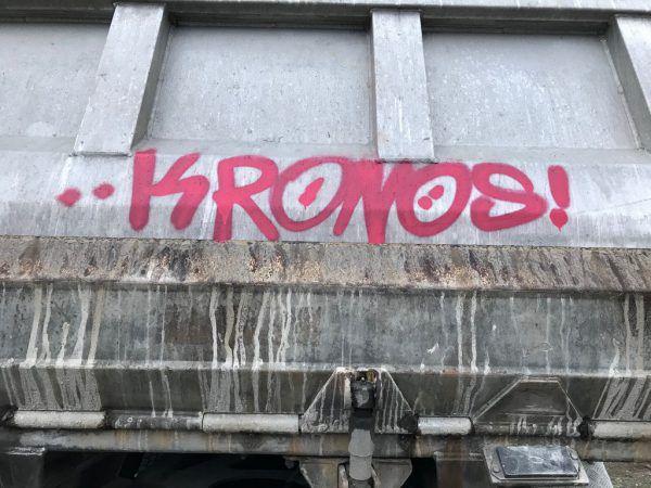 Graffiti auf Lkw. Polizei/Hohenems