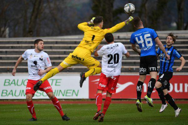 Lukas Bundschuh gab alles, aber offensiv lief gestern zu wenig zusammen bei den Rothosen.GEPA/Oliver Lerch
