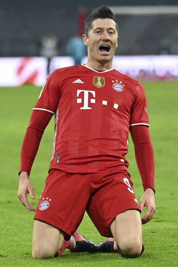 Robert Lewandowski traf gegen den BVB per Dreierpack und steht bei 31 Saisontoren.ap