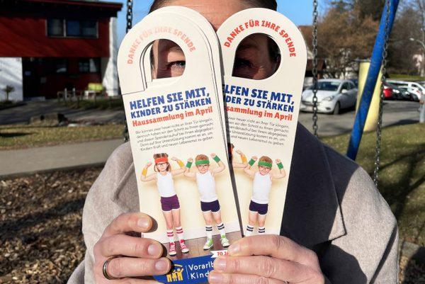 Spendenaufrufe für das Vorarlberger Kinderdorf.Vorarlberger Kinderdorf