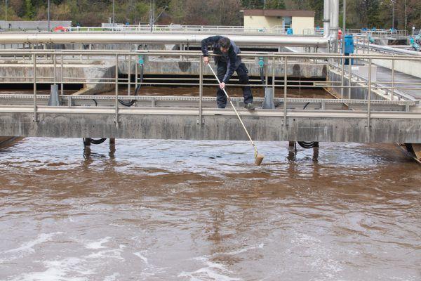 Abwasser in 17 Kläranlagen wurden auf Drogen untersucht. Im Bild: Abwasserreinigungsanlage Meiningen. Hartinger, APA
