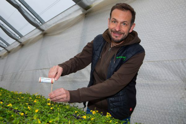 Andreas Dür von der Gartenlaube in Alberschwende hat die Apps getestet.Klaus Hartinger