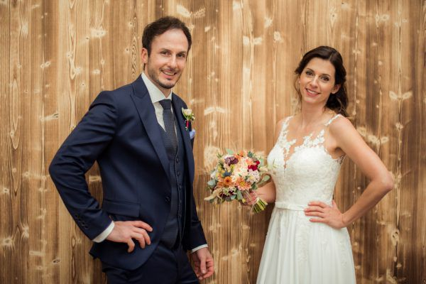 """Andreas und Jessica Domig haben den Schritt in die Ehe in Zeiten der Pandemie gewagt. Trotz Einschränkungen war es für die beiden der """"perfekte Tag"""". Handout/privat"""