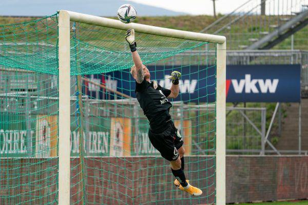 Austria-Goalie Domenik Schierl hatte zuletzt viel zu viel zu tun. Lustenau muss deutlich zulegen.Dietmar Stiplovsek