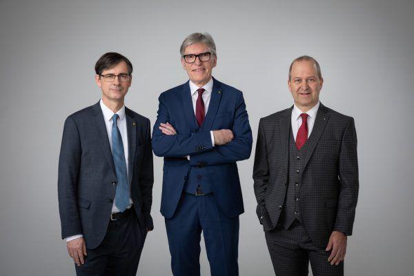 Der Landesvorstand bestehend aus Wilfried Hopfner (Mitte), Michael Alge (l.) und Jürgen Kessler.Raiffeisen