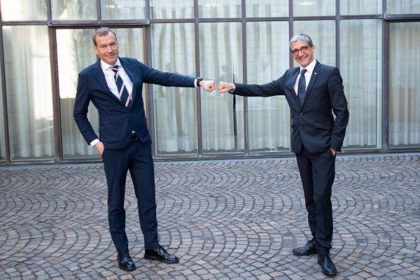 Der neue Landesvolksanwalt Klaus Feurstein (links) mit seinem Vorgänger Florian Bachmayr-Heyda.Alexandra Serra