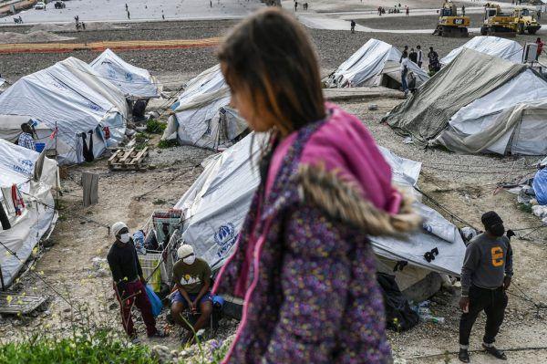 Die Situation in den überfüllten Flüchtlingslagern auf Lesbos war Thema in der Emser Stadtvertretung. AFP