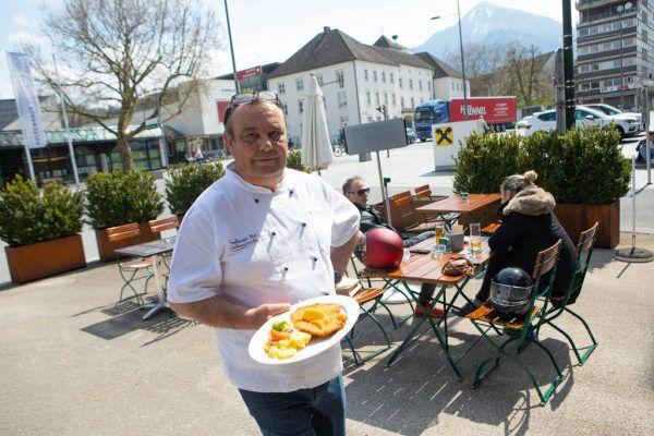 Gastgarten-Betrieb gibt es unter anderem auch bei Gerhard Heinzle im Vorarlberger Hof in Dornbirn.Hartinger (2), Handout/Privat (6)