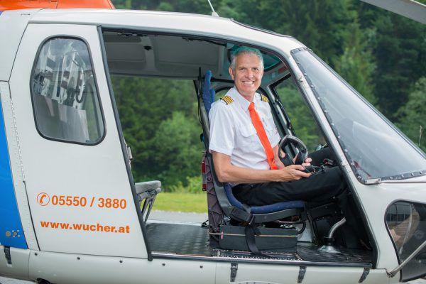 Gerhard Huber kündigt den Ausbau an.Wucher