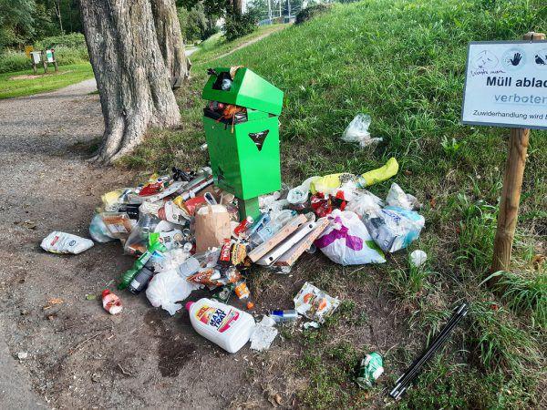 Müllproblem am Schwarzbad.Lochau