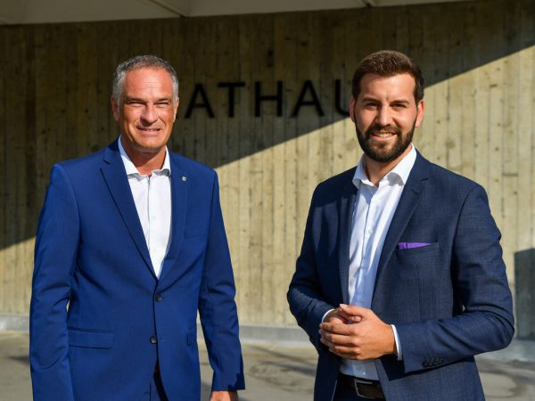 Noch-Vizebürgermeister Mario Leiter (l.) und Stadtchef Simon Tschann werden weiterhin miteinander zu tun haben – allerdings nicht als Politiker.Lerch