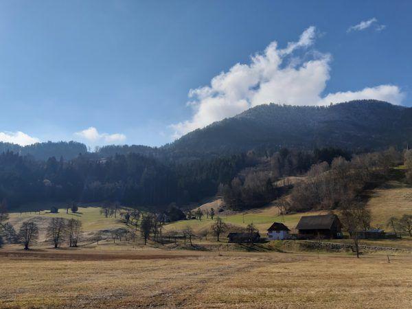 Oben: Der Spondaweiher liegt verborgen im Frastanzer Ried.Rechts: Parzelle Fellengatter am Fuße von Maria Ebene und den Drei Schwestern.Glück (4)