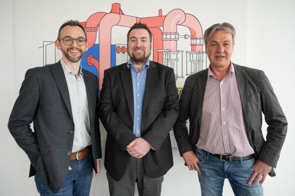 Oliver Mangeng, Markus Intemann und Hubert Rädler (v.l.) führen zukünftig die Intemann GmbH.WPA