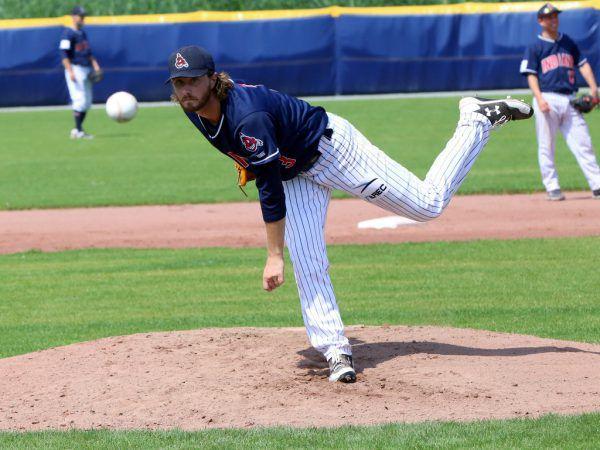 Ryan Rupp ist einer der Pitcher bei den Dornbirn Indians.pschorr, hartinger