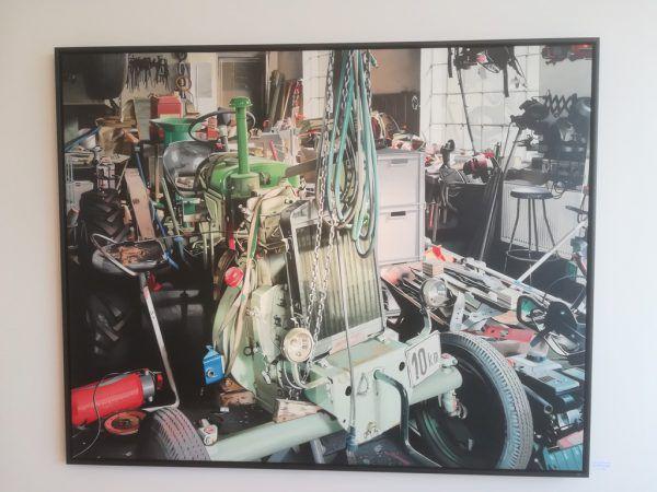 """""""Werkstatt Fussenegger"""" (Ausschnitt) von Heinrich Salzmann. Wolfgang Ölz"""