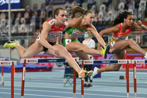 Annik Kälin (vorne) ist aktuelle Schweizer Meisterin.apa