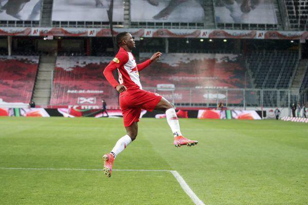 Daka hat mit seinem Doppelpack Salzburg zum Meistertitel geschossen. GEPA