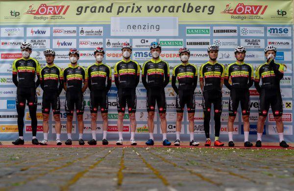 Das Team Vorarlberg ging hochmotiviert beim GP Vorarlberg an den Start, siehe Ergebnis rechts.