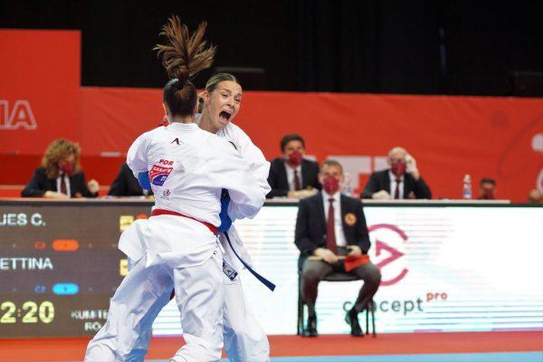 Die EM in Kroatien endete gestern mit einer herben Enttäuschung für Bettina Plank in der Klasse bis 50 Kilogramm. Ewald Roth/Karate Austria