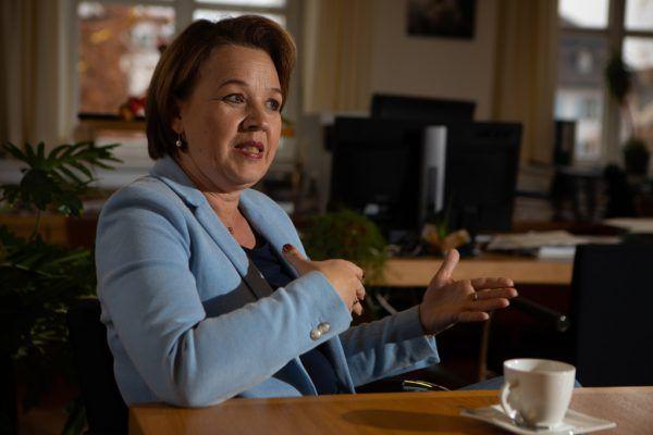 Andrea Kaufmann, Präsidentin des Vorarlberger Gemeindeverbands.Hartinger