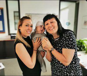 Corinna Hefel und Leonard (M.) ausKennelbach an Mama Birgit und Sandra
