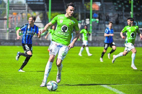 Haris Tabakovic ist der Torjäger vom Dienst bei den Grün-Weißen. Am Samstag hat der Schweizer gegen Amstetten einen Doppelpack gschnürt.GEPA/Lerch