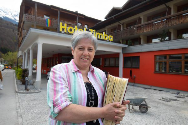Heike Ladurner-Strolz vom Hotel Zimba in Schruns und der Stubener Hotelier Markus Kegele.Klaus Hartinger (2)